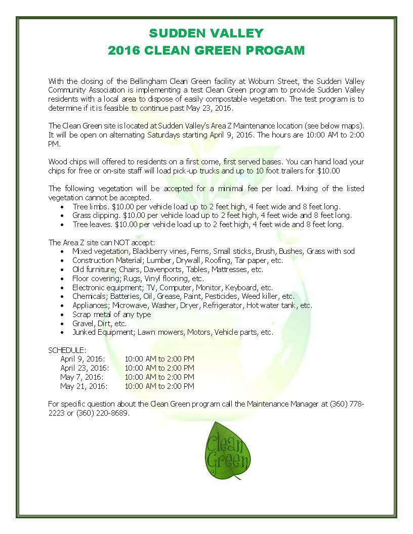 Clean Green Web Text