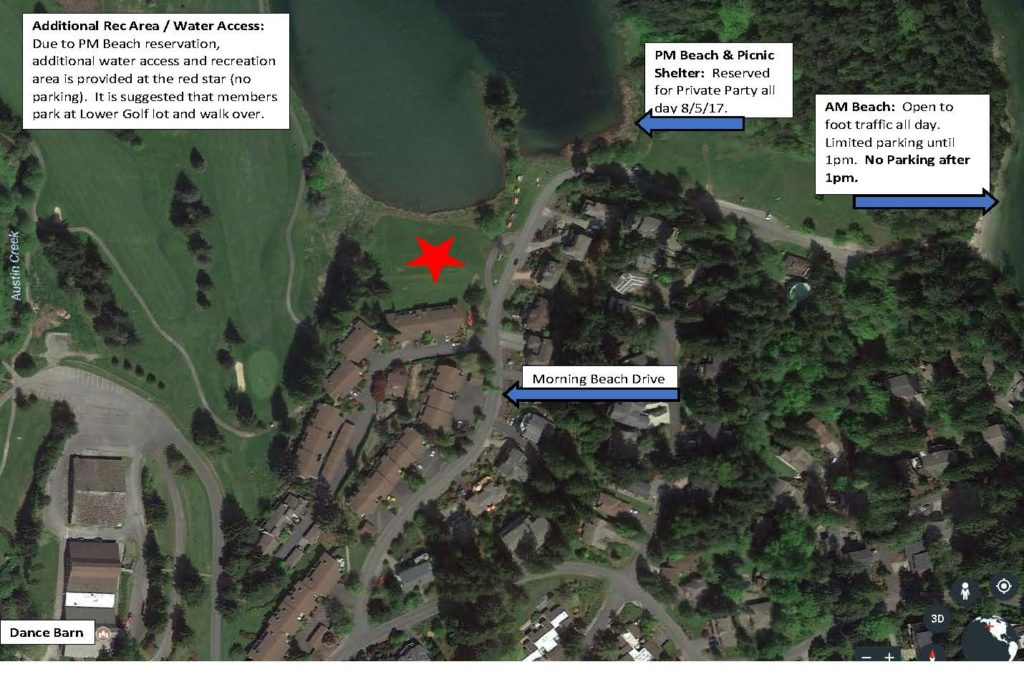 Modification to AM/PM Beach Use for Saturday 8/5/17 - New